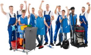 đội ngũ nhân viên vệ sinh công nghiệp